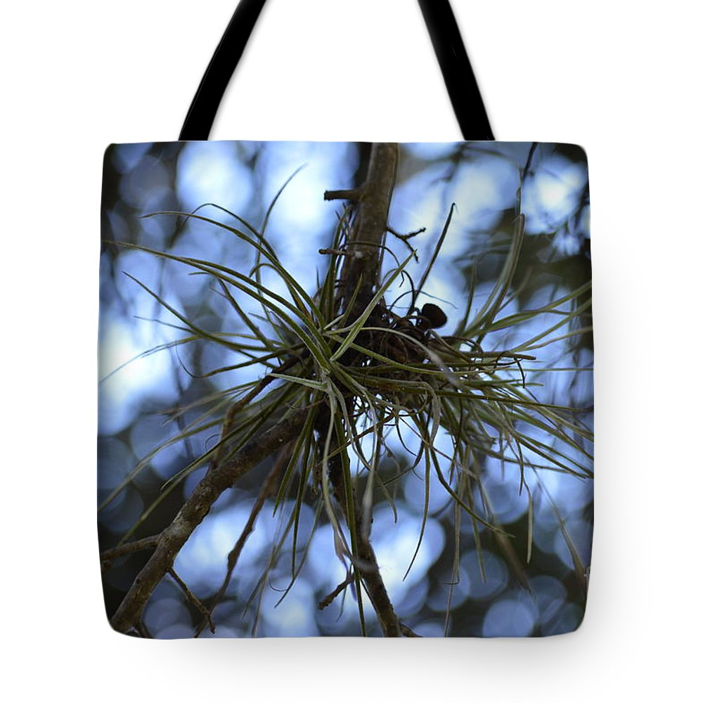 Verde Tote Bag featuring the photograph Green Spider by Lenin Caraballo