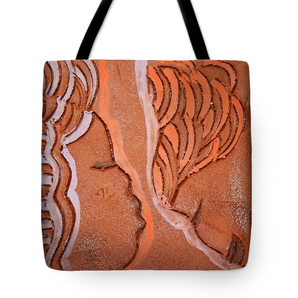 Jesus Tote Bag featuring the ceramic art Greeting - Tile by Gloria Ssali