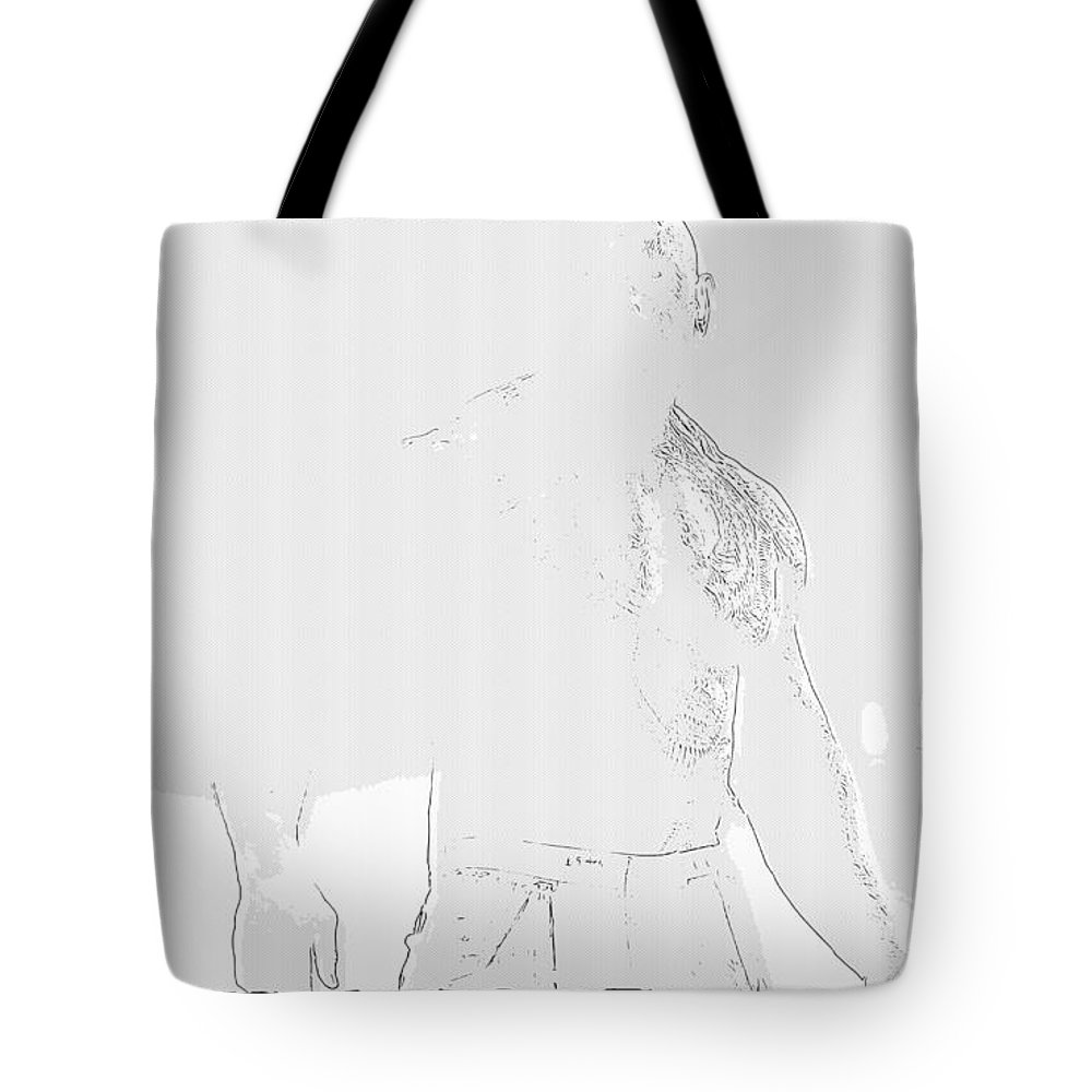 Guardians Of The Galaxy Tote Bag featuring the digital art Guardians Of The Galaxy by Lora Battle