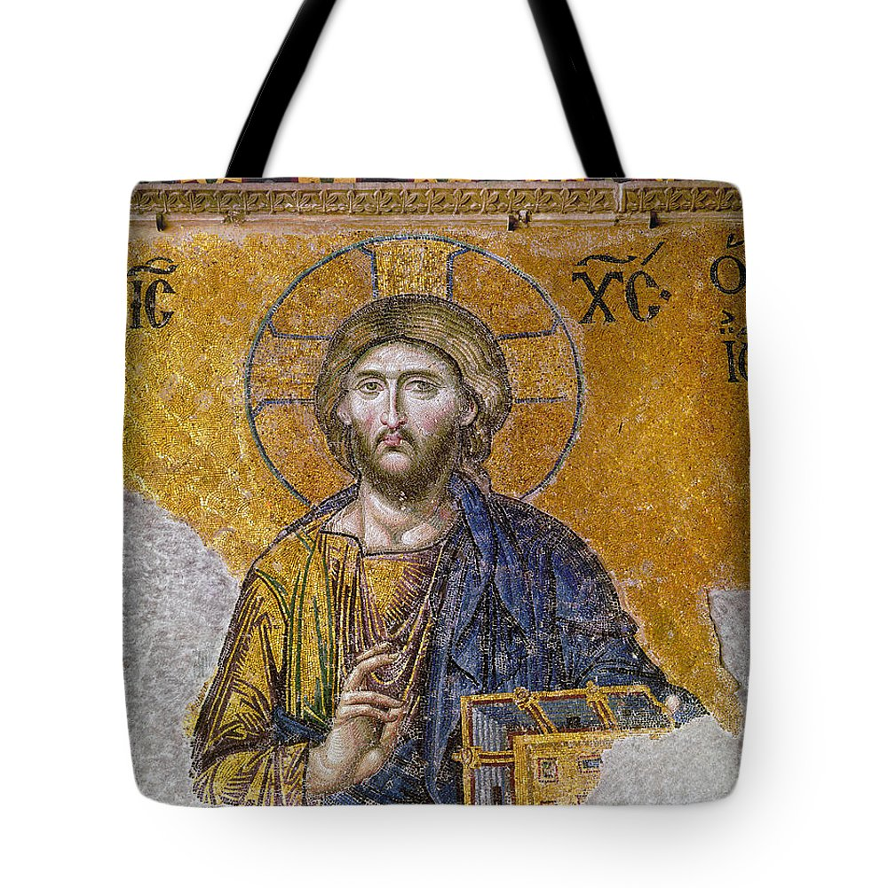 13th Century Tote Bag featuring the photograph Hagia Sophia: Mosaic by Granger