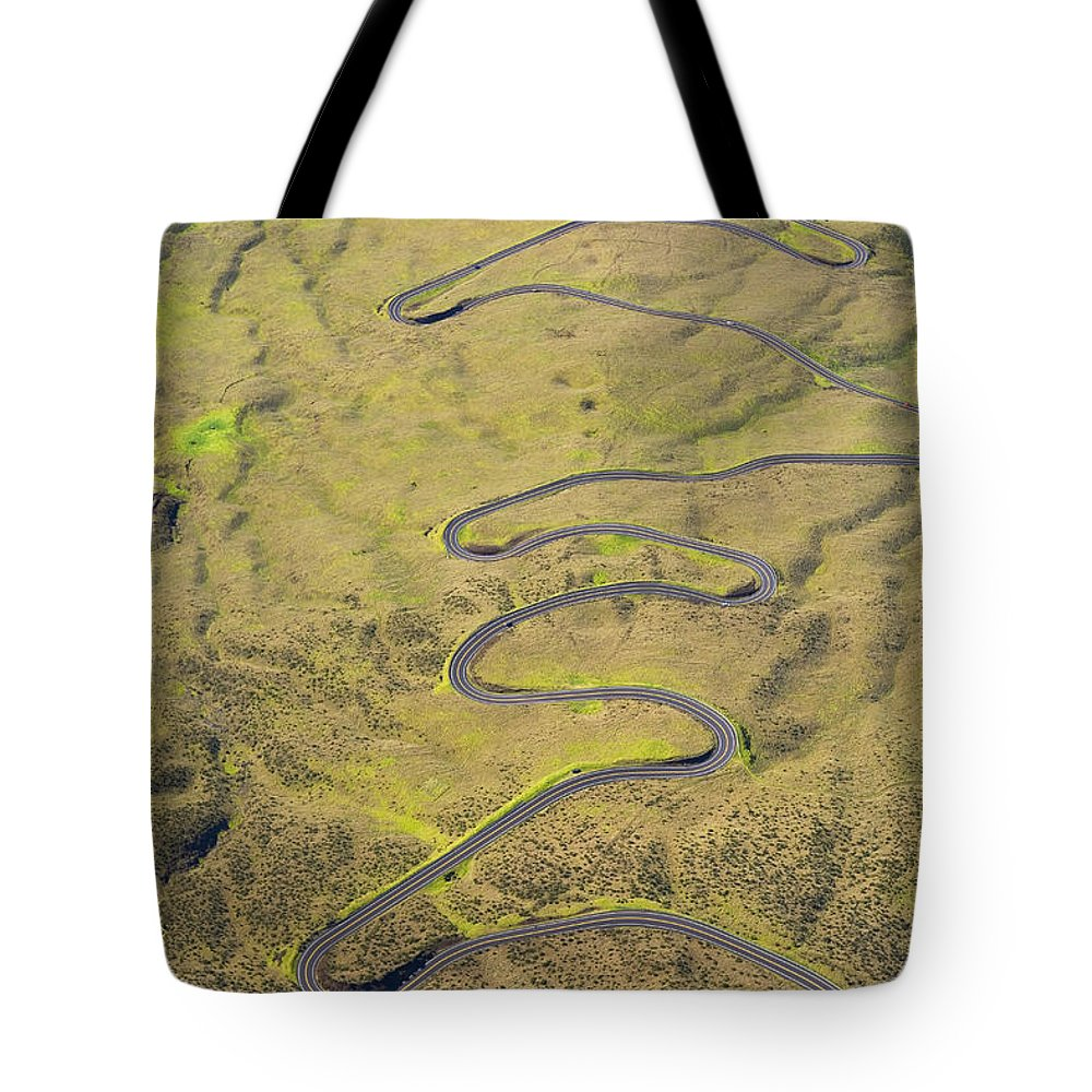 Above Tote Bag featuring the photograph Haleakala Highway by Ron Dahlquist - Printscapes