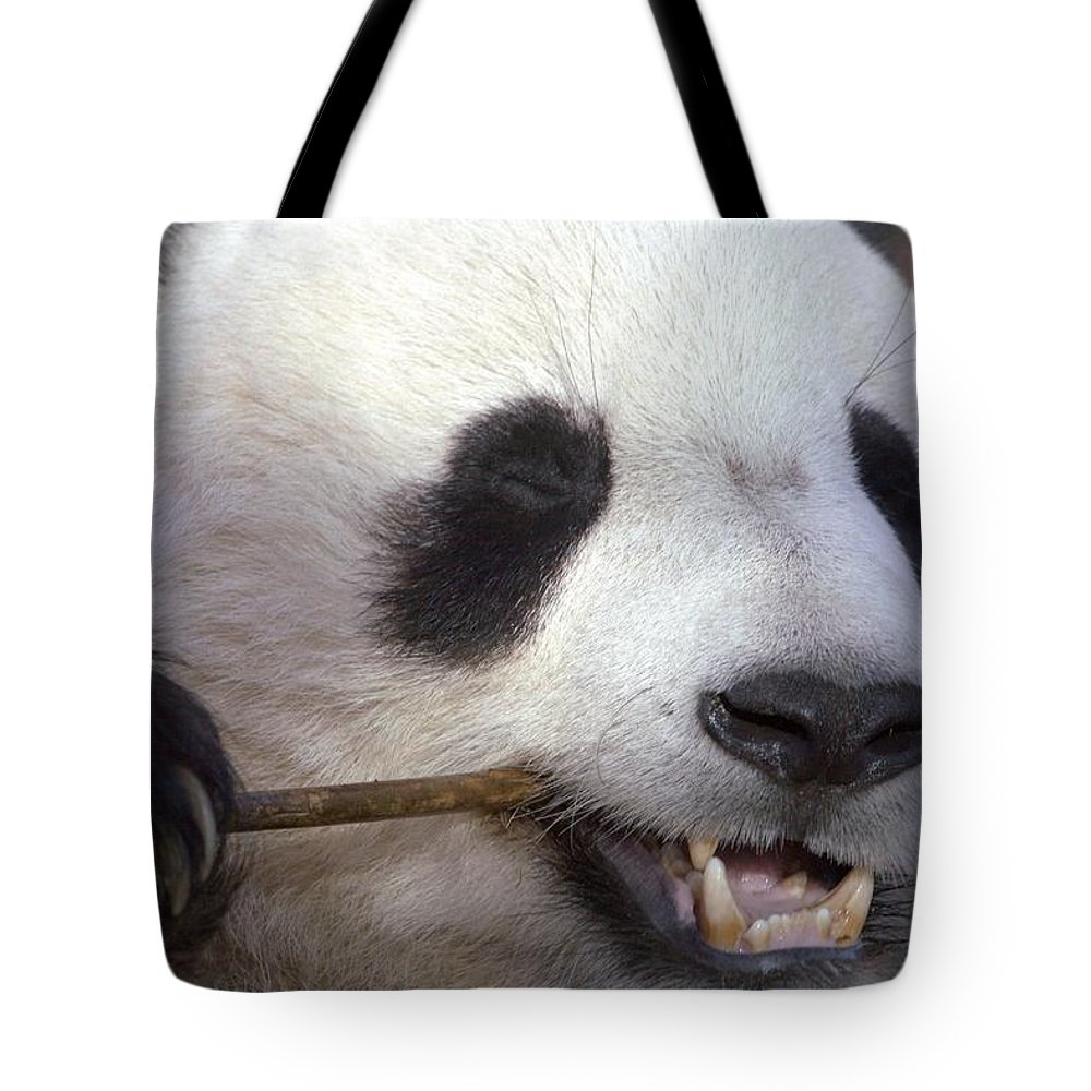 Panda Tote Bag featuring the photograph Happiness by Mitch Cat