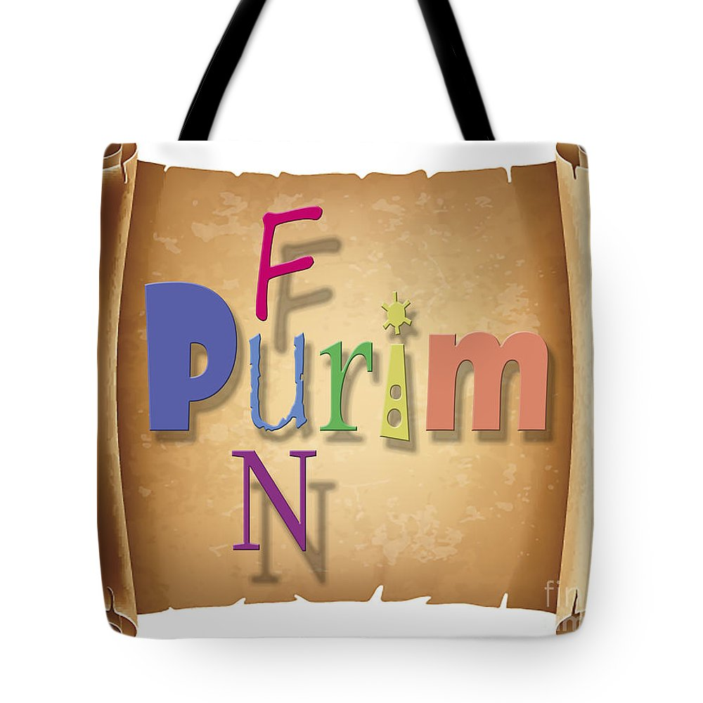 Happy Tote Bag featuring the photograph Happy Joyous Purim by Humorous Quotes