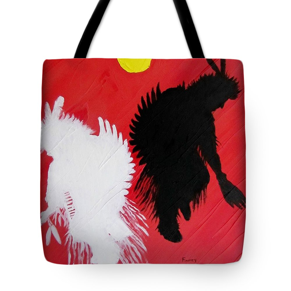 Harvest Dance Tote Bag featuring the painting Harvest Dance by Michael TMAD Finney