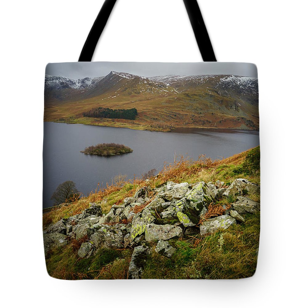 Cumbria Tote Bag featuring the photograph Haweswater by Smart Aviation