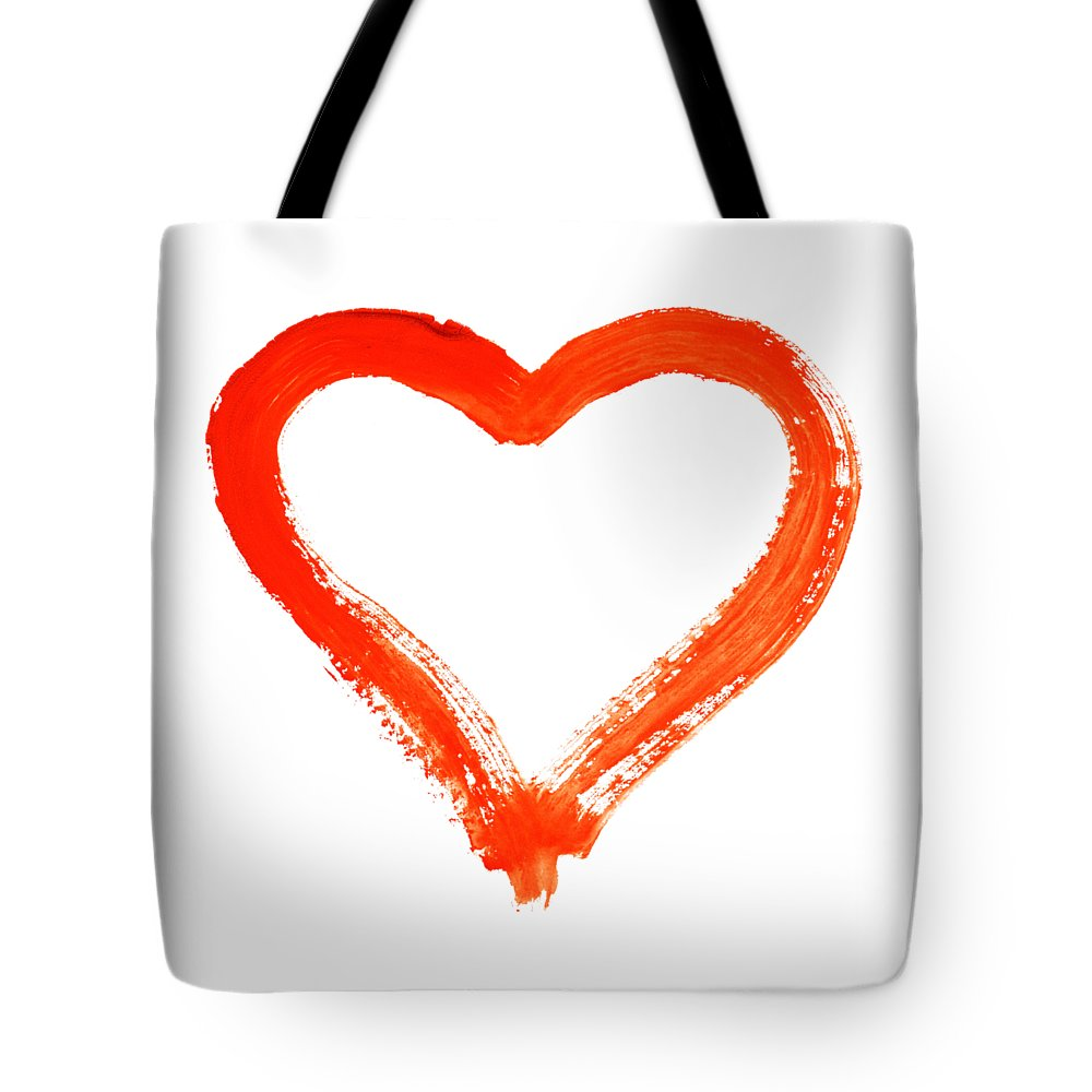 Heart Tote Bag featuring the drawing Heart - Symbol Of Love by Michal Boubin