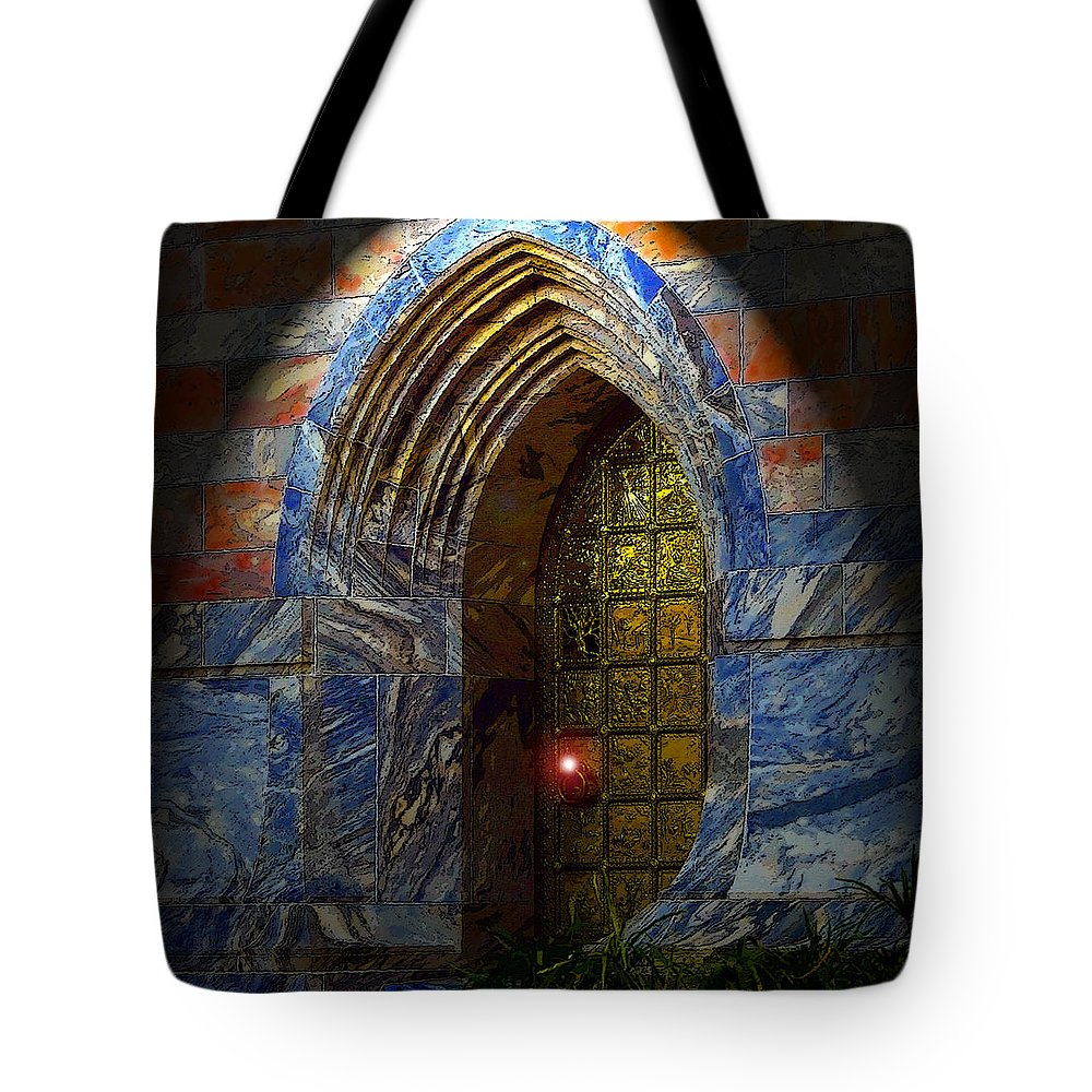 Art Tote Bag featuring the painting Heavens Gate by David Lee Thompson