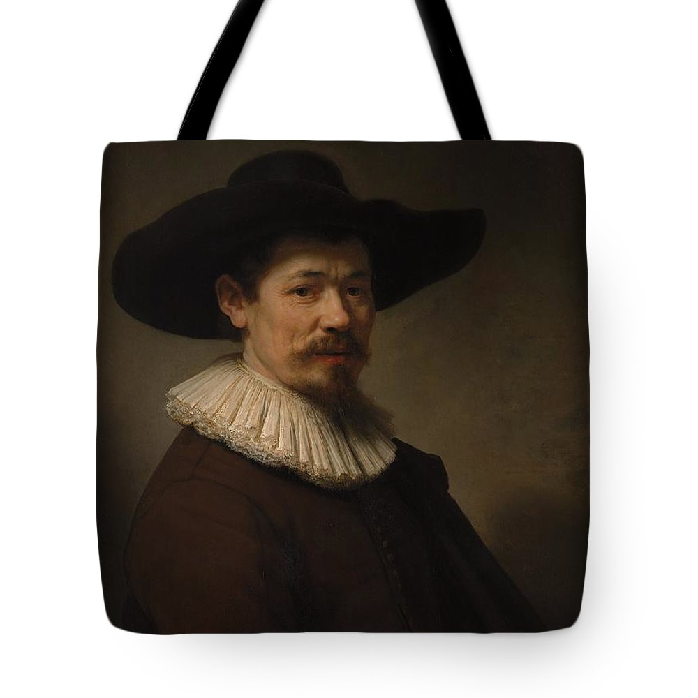 Rembrandt Herman Doomer Born About 1595 Died 1650 Tote Bag featuring the painting Herman Doomer Born About 1595 Died 1650 by Rembrandt