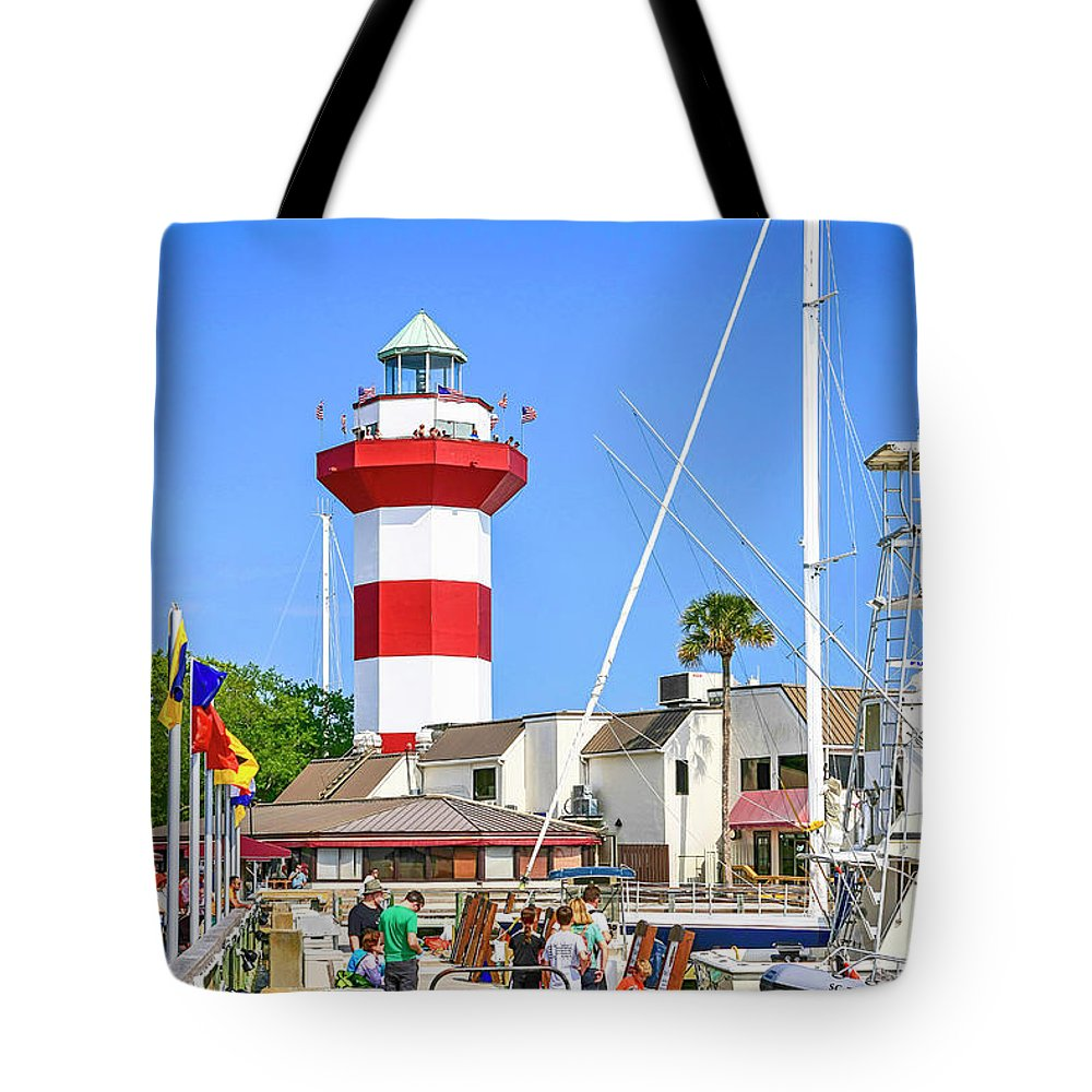 American Tote Bag featuring the photograph Hilton Head Harbor Sc by Chris Smith