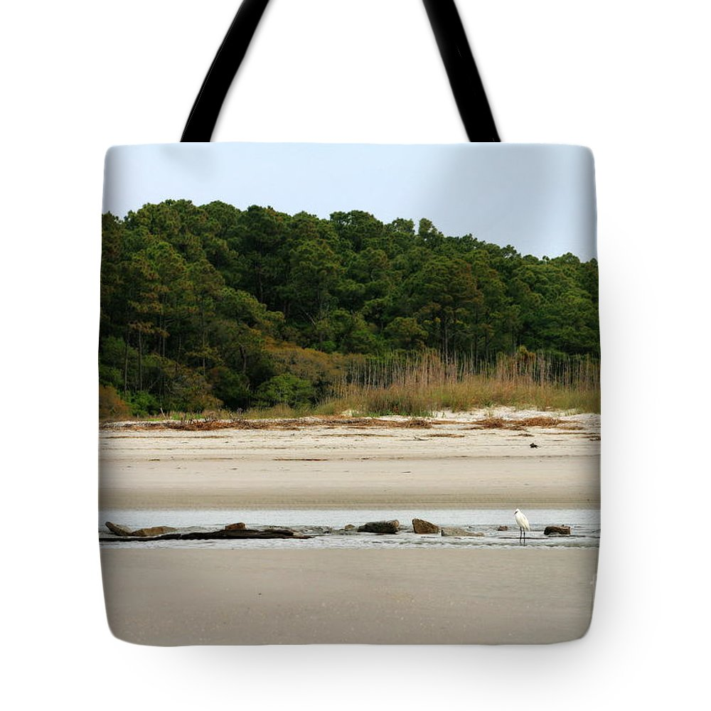 Tote Bag featuring the photograph Hilton Head Island Shoreline by Angela Rath