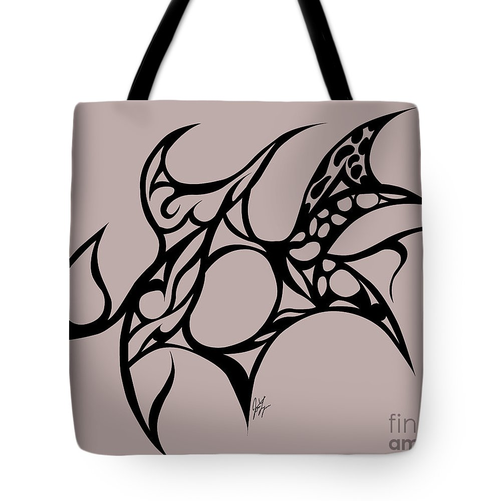 Trible Abstract Tote Bag featuring the digital art Hole by Jamie Lynn