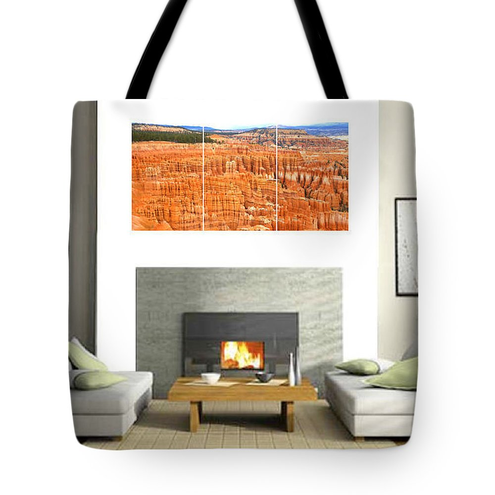 0887 Tote Bag featuring the photograph Hoodoos Of Bryce Canyon by Gordon Elwell