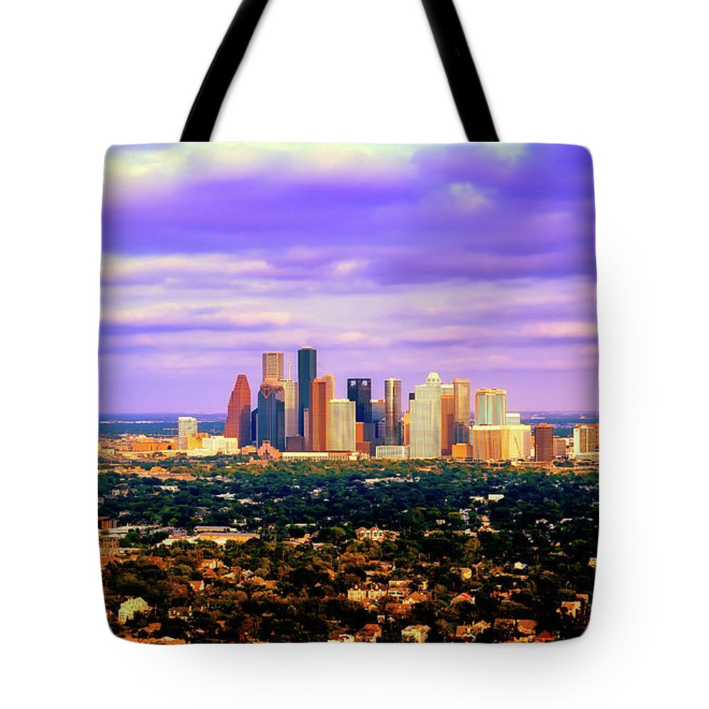 Houston Tote Bag featuring the photograph Houston 1980s by Library Of Congress