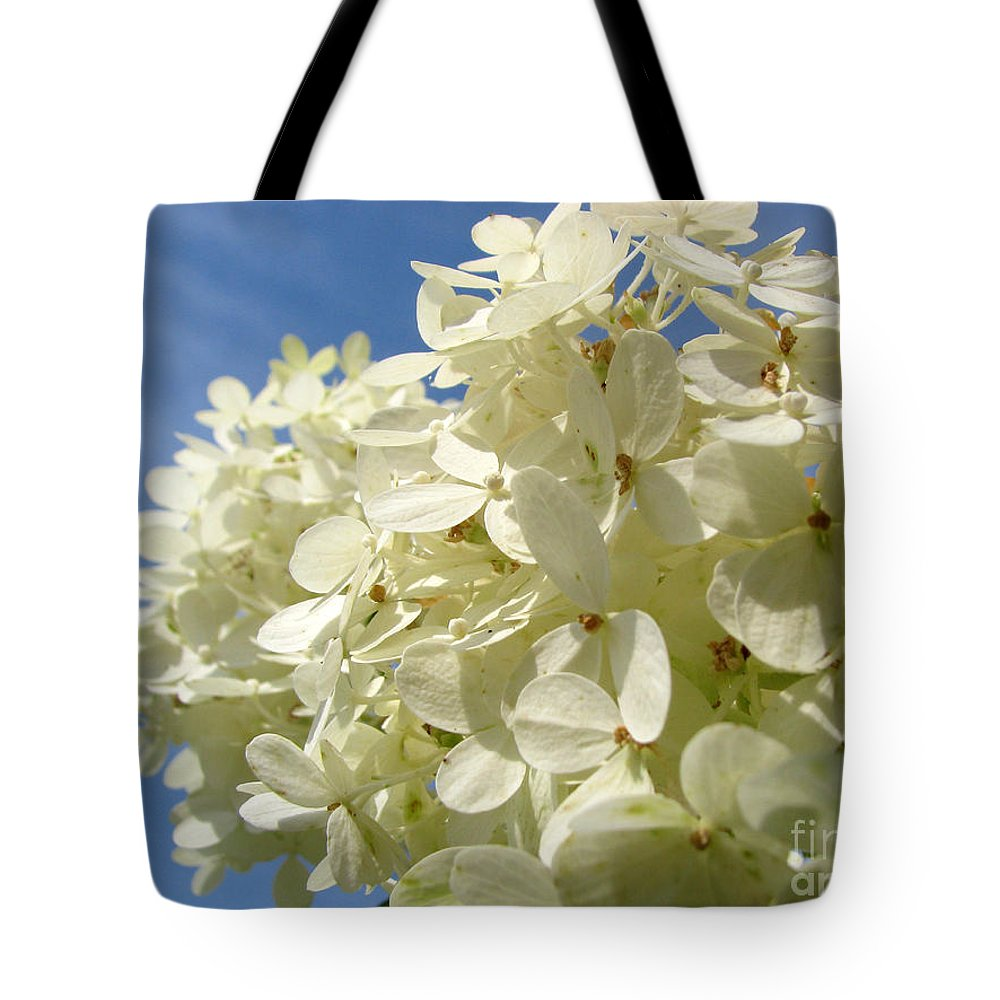 Hydranga Tote Bag featuring the photograph Hydrangea by Amanda Barcon