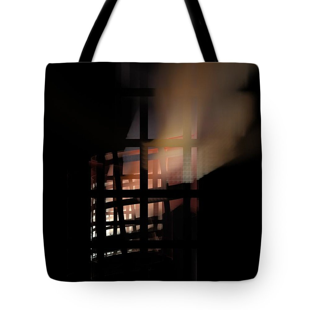 Fine Art Digital Art Tote Bag featuring the digital art Illusion by David Lane