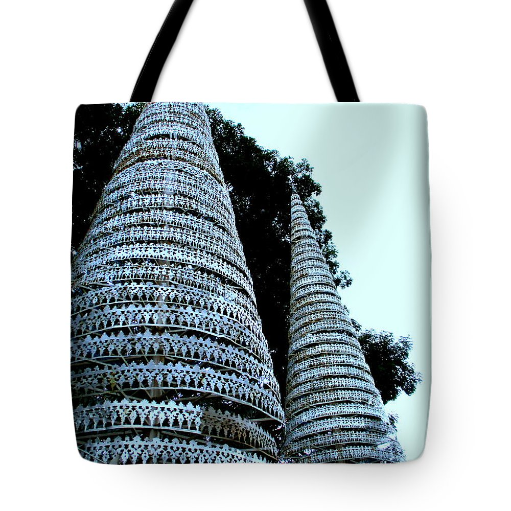 Cambodia Tote Bag featuring the photograph Independence Park 3 by Randall Weidner