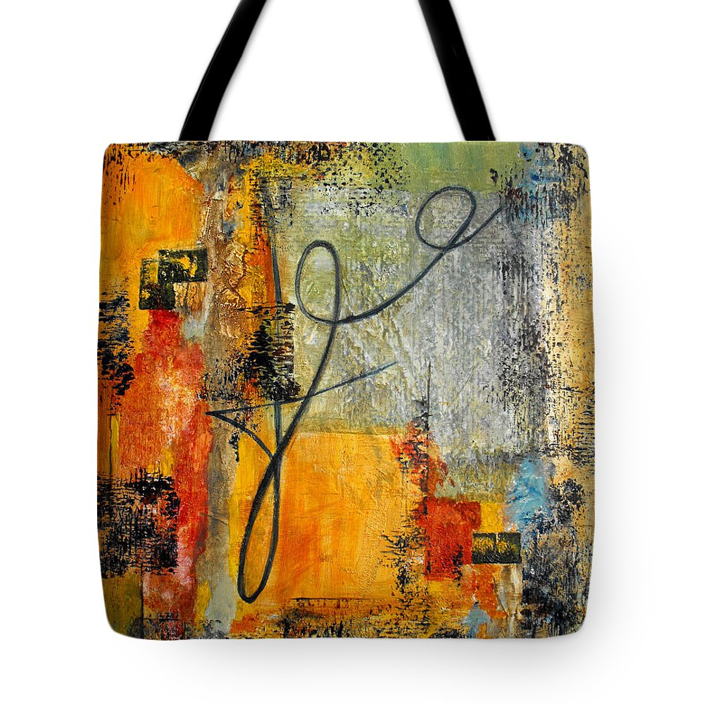 Abstract Tote Bag featuring the painting Invitation To Dance by Ruth Palmer