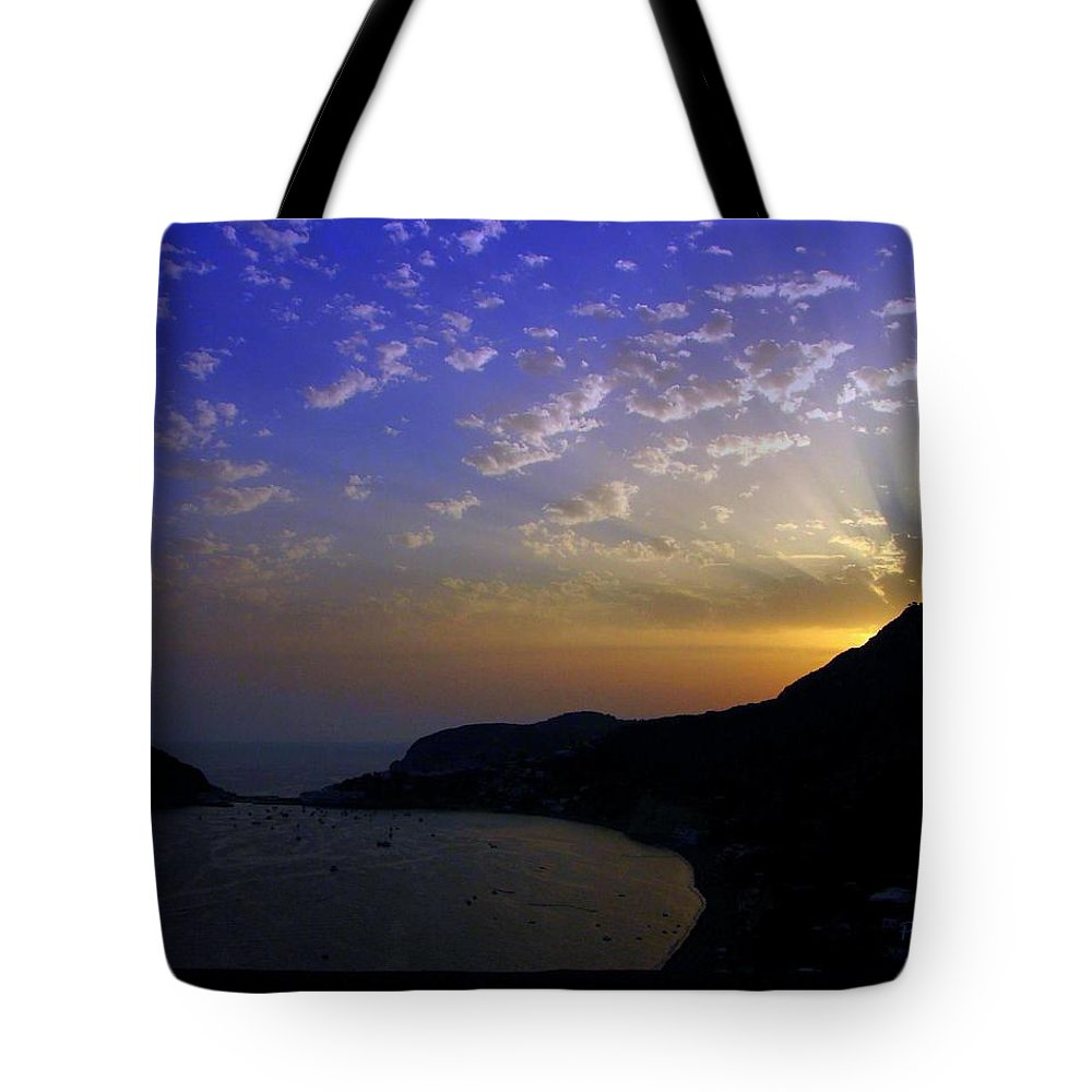 Sunset Tote Bag featuring the photograph Ischia Awakens by Patrick Witz