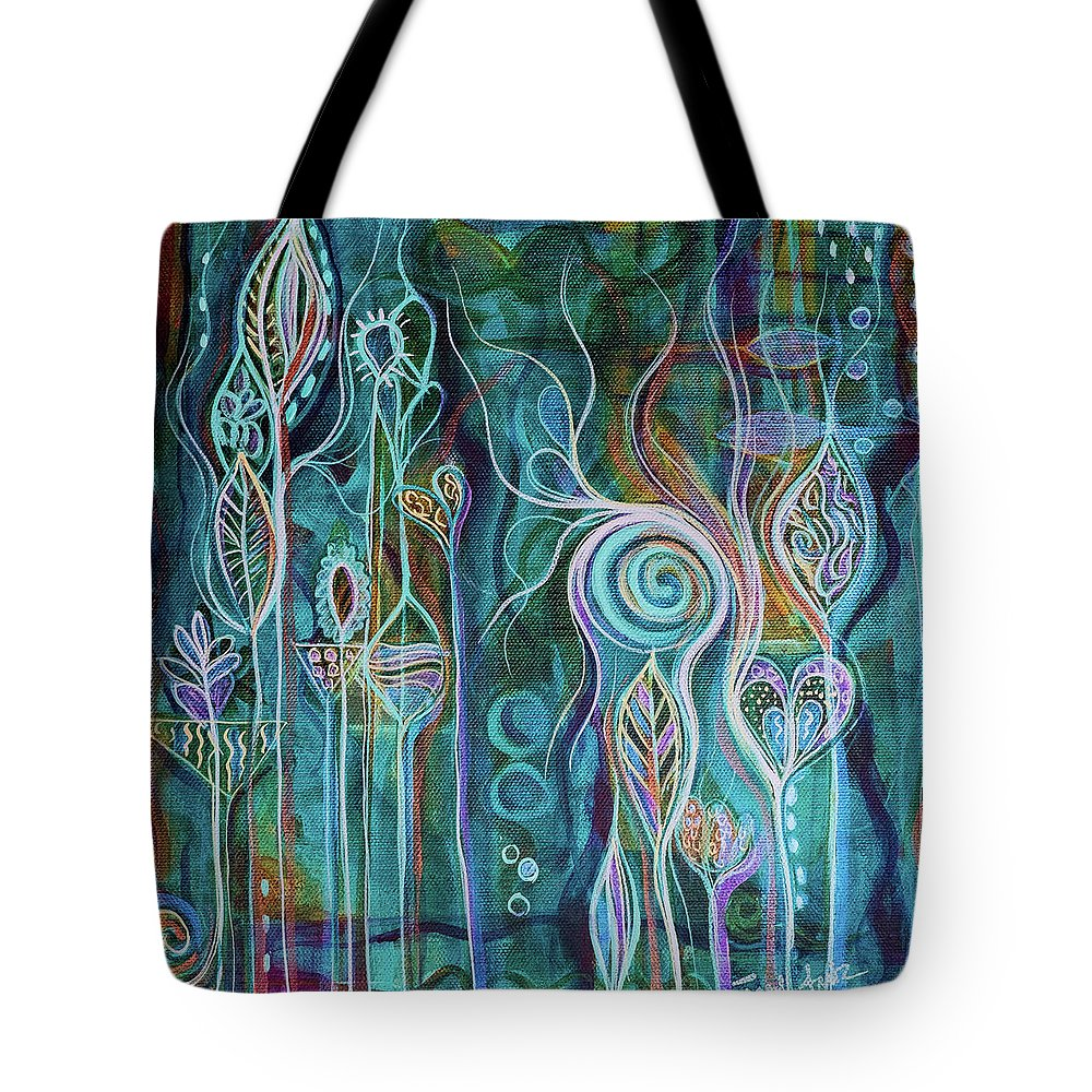 Art Tote Bag featuring the painting Itty Bitty Fun by Angel Fritz