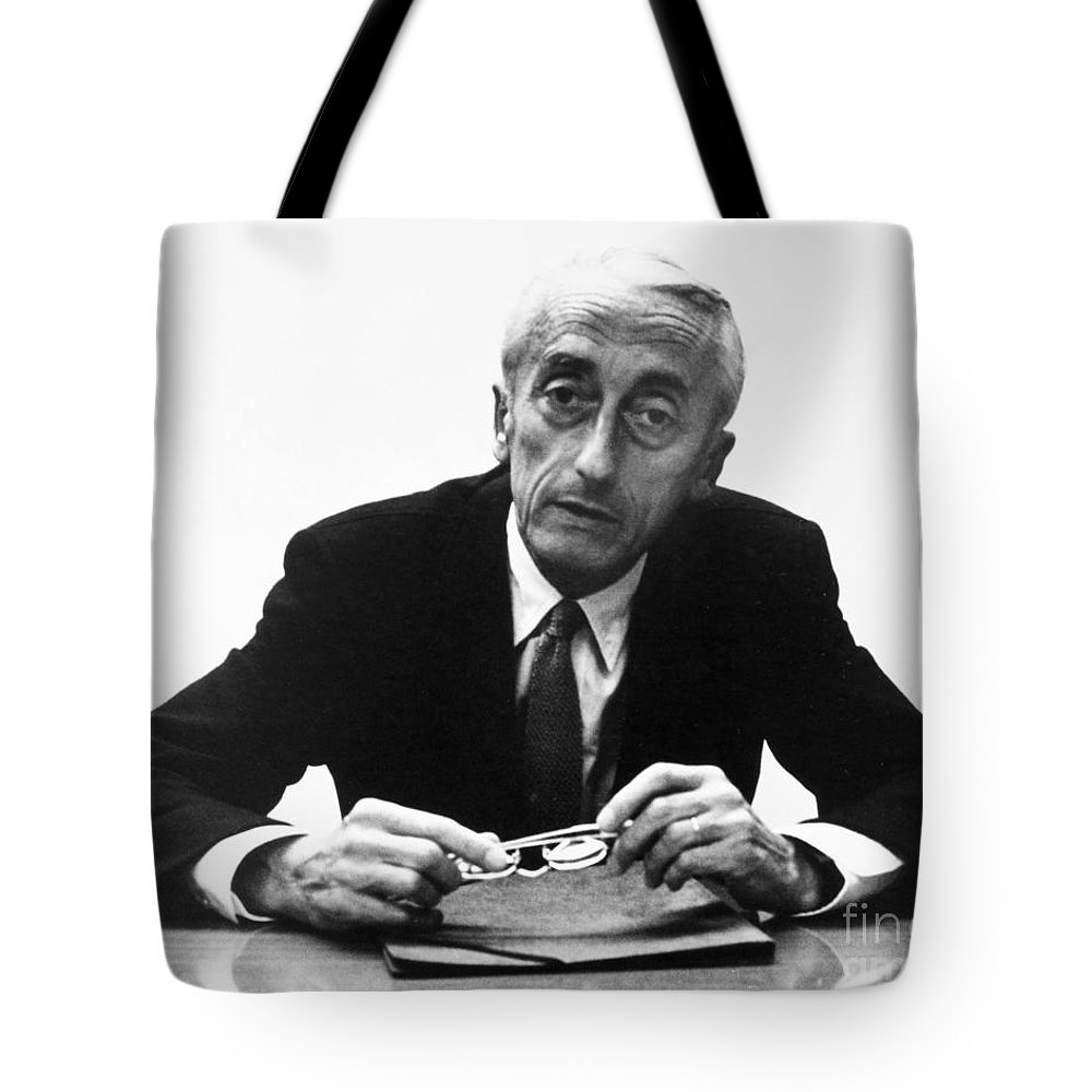 1974 Tote Bag featuring the painting Jacques Cousteau (1910-1997) by Granger