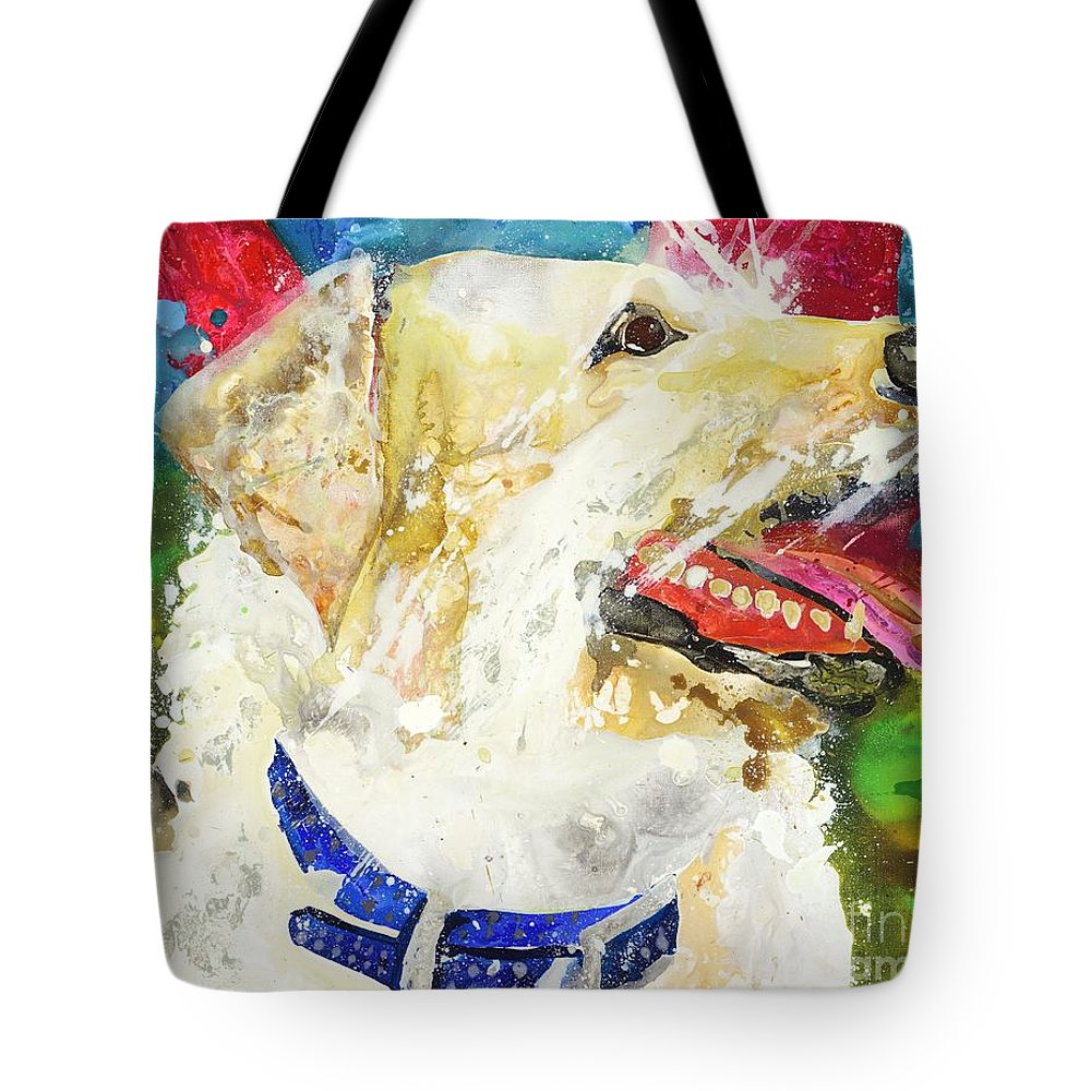 Mutt Tote Bag featuring the painting Jasmine by Kasha Ritter