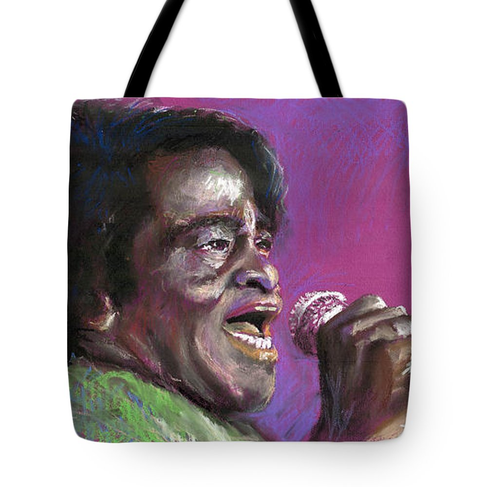 Jazz Tote Bag featuring the painting Jazz. James Brown. by Yuriy Shevchuk