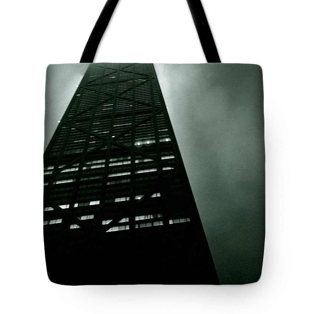 Geometric Tote Bag featuring the photograph John Hancock Building - Chicago Illinois by Michelle Calkins