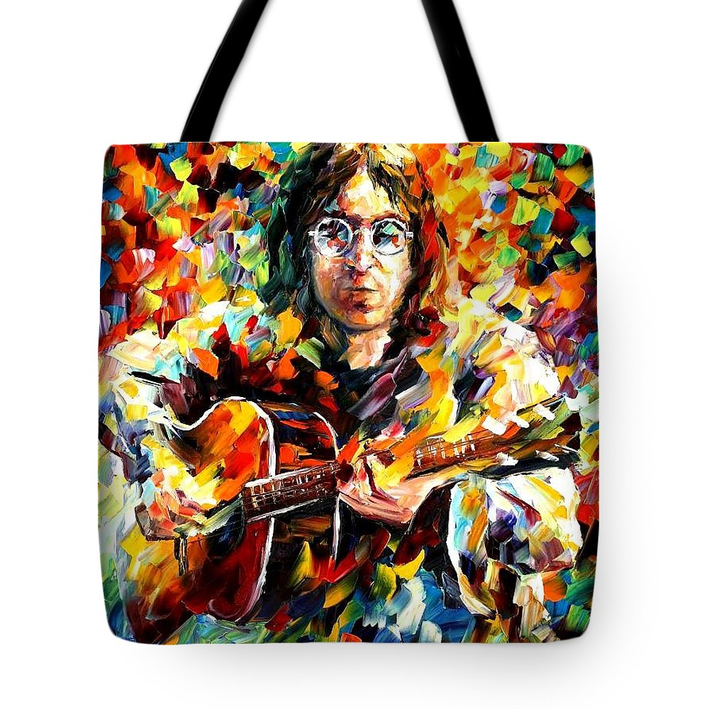 Afremov Tote Bag featuring the painting John Lennon by Leonid Afremov