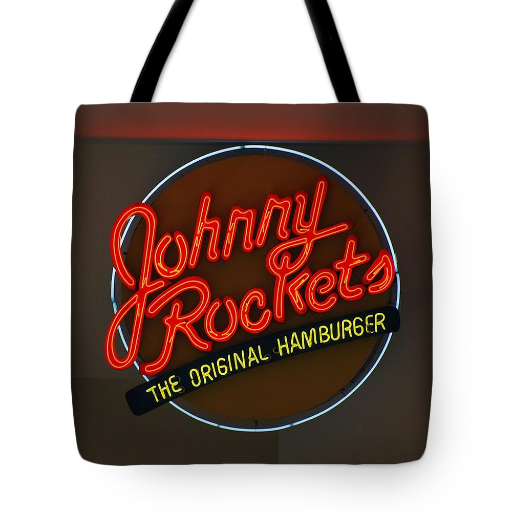 Macro Tote Bag featuring the photograph Johnny Rockets by Rob Hans