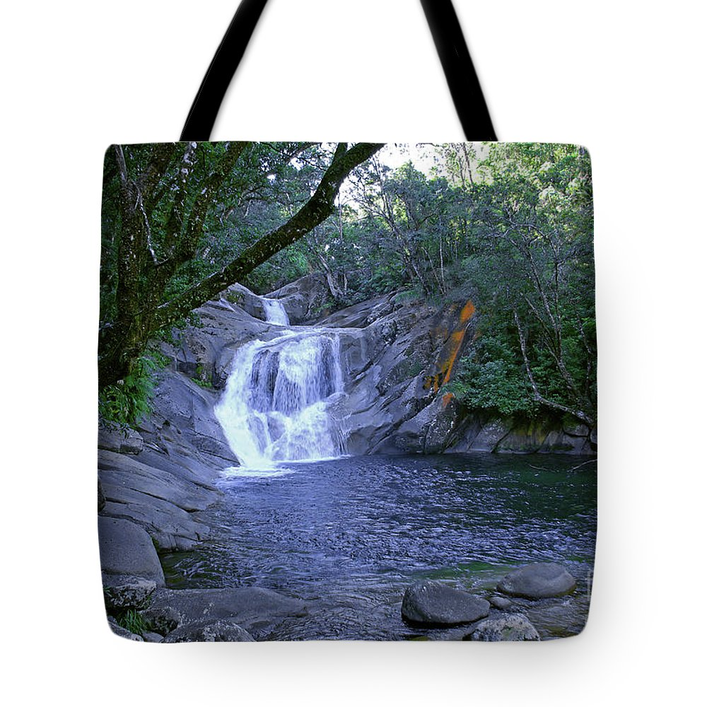 Tropical Tote Bag featuring the photograph Josephine Falls And Tropical Pool by Kerryn Madsen- Pietsch