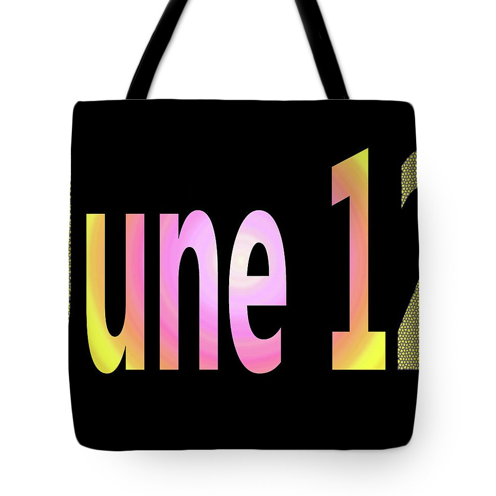 June Tote Bag featuring the digital art June 12 by Day Williams