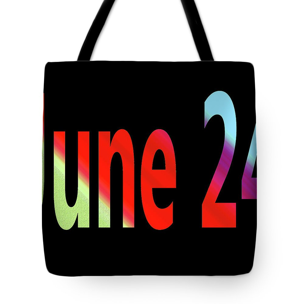 June Tote Bag featuring the digital art June 24 by Day Williams