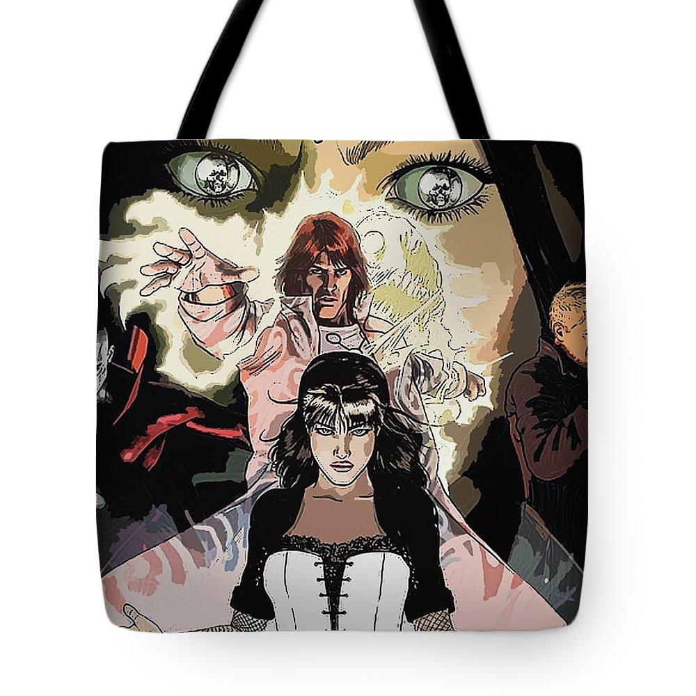 Justice League Tote Bag featuring the digital art Justice League by Lora Battle