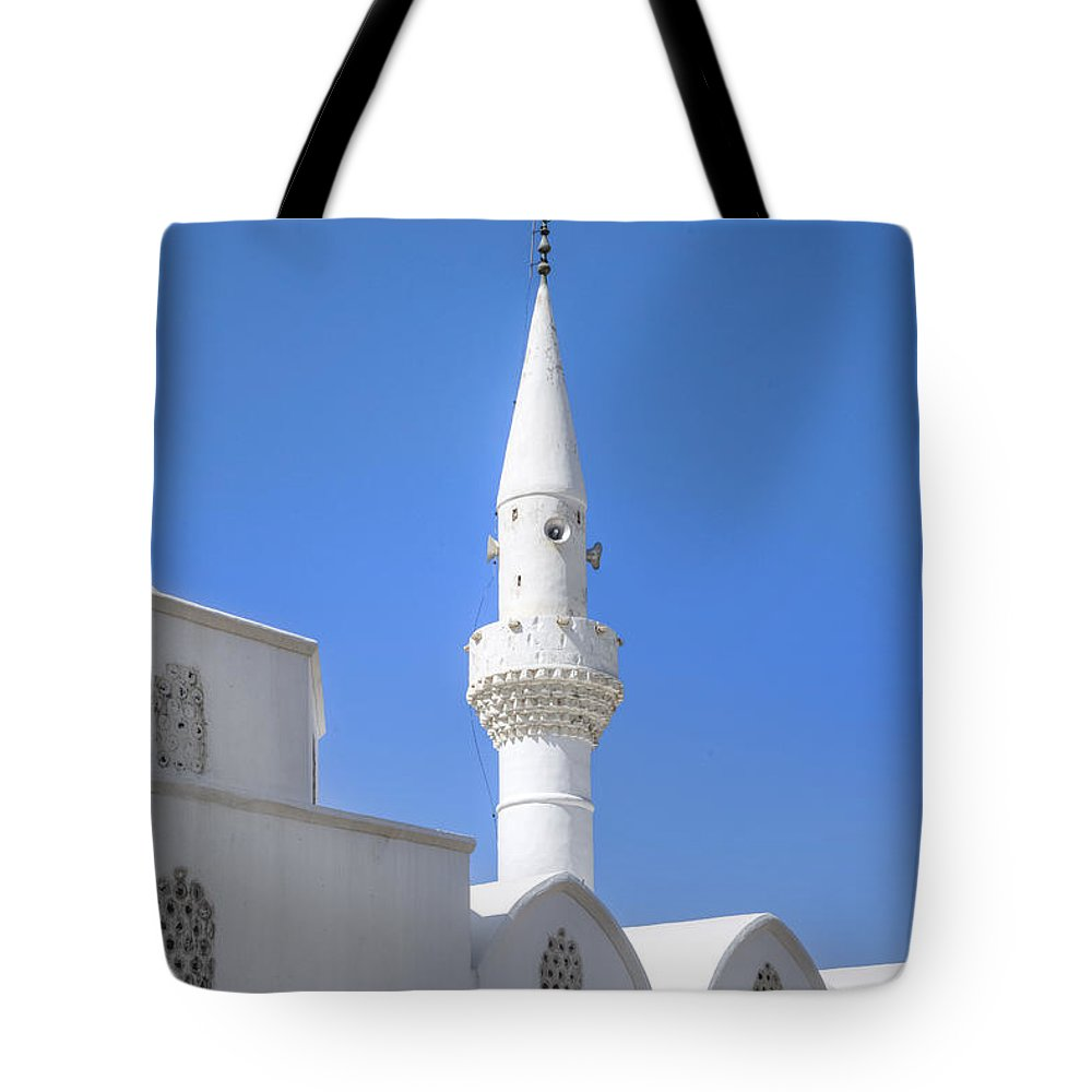 White Mosque Tote Bag featuring the photograph Kalkan - Turkey by Joana Kruse