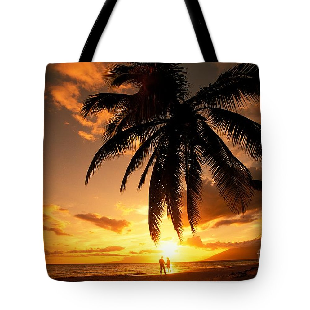 Affection Tote Bag featuring the photograph Kamaole One by Ron Dahlquist - Printscapes