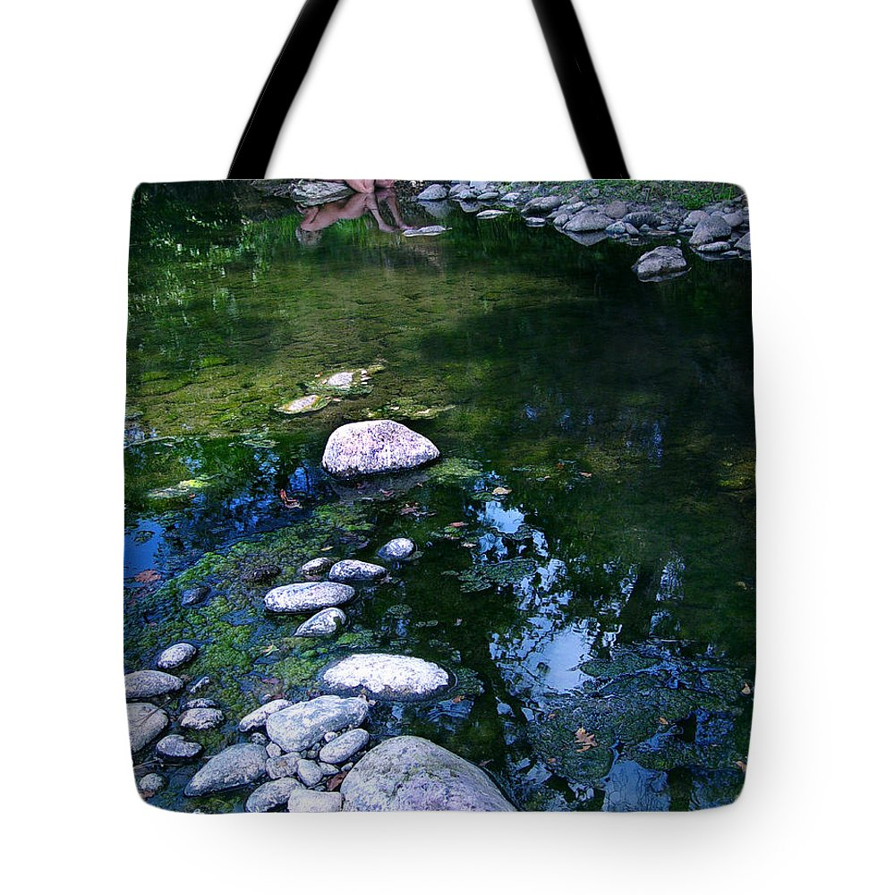 Woman Nude Photo Tote Bag featuring the photograph Kelly Nude by Peter Piatt