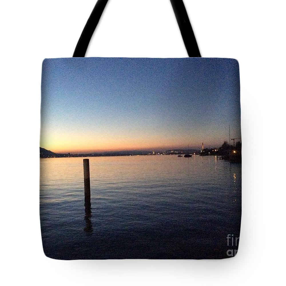 Lake Zurich Tote Bag featuring the photograph Lake Zurich At Sunset by Paula Albert