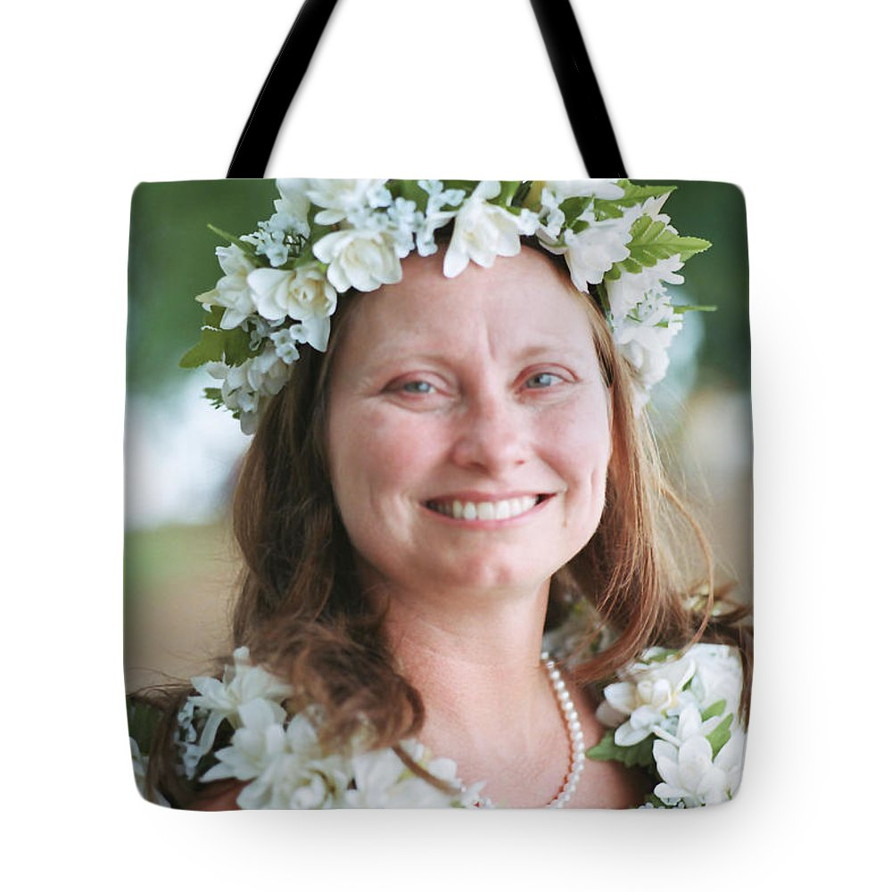 Portrait Tote Bag featuring the photograph len by John Graziani