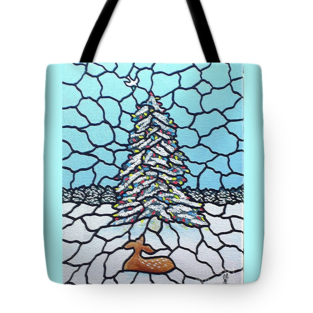 Peace Tote Bag featuring the painting Let There Be Peace by Jim Harris