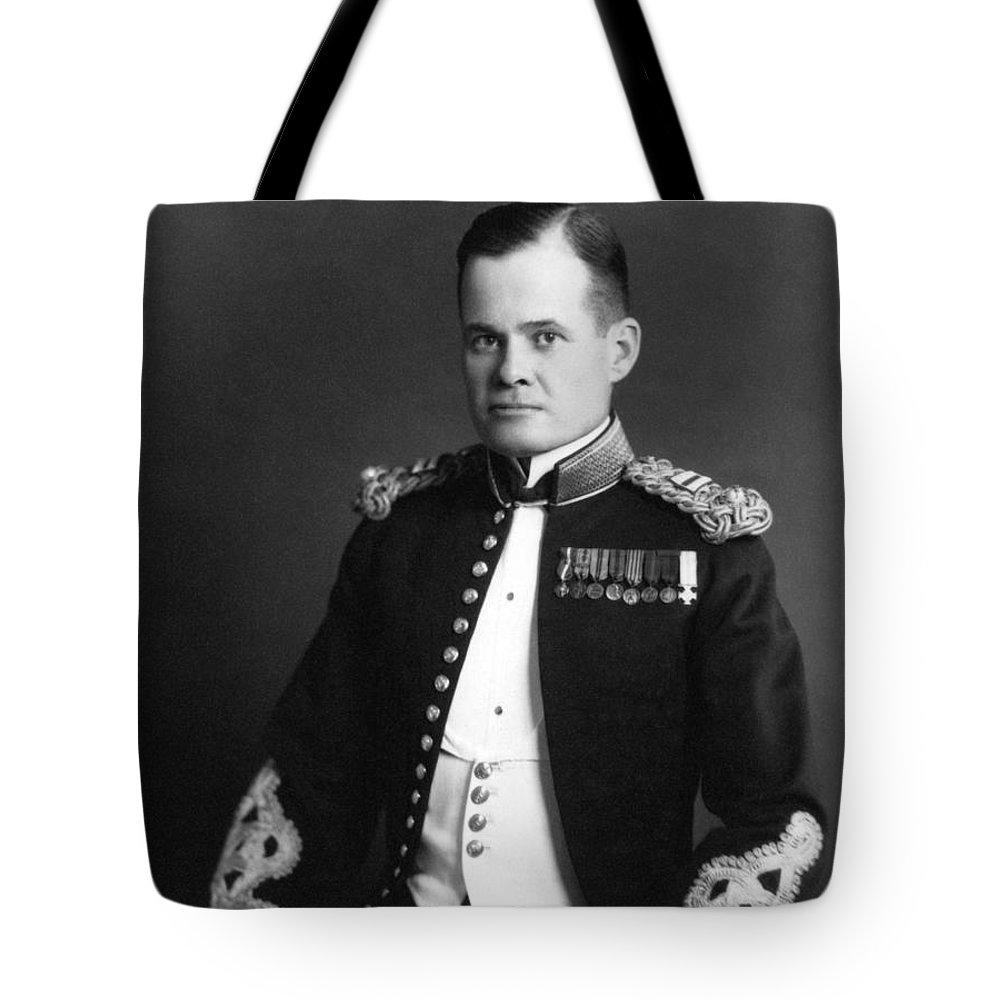 Marine Corps Tote Bag featuring the photograph Lewis Chesty Puller - Two by War Is Hell Store