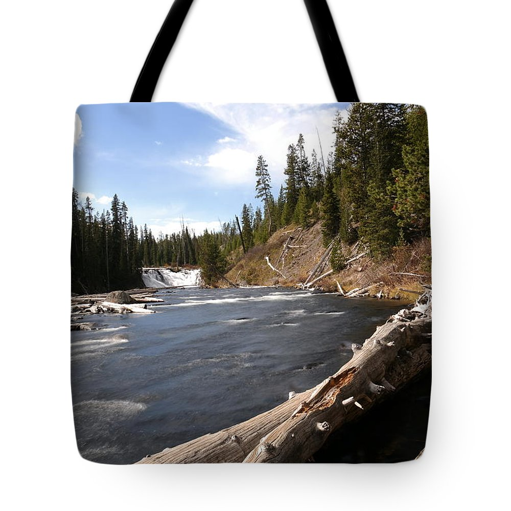 Waterfalls Tote Bag featuring the photograph Lewis Falls by Jeff Swan