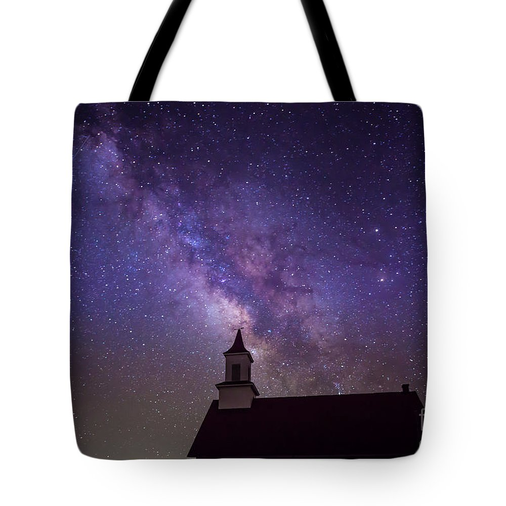 Night Stars Tote Bag featuring the photograph Light From Above by Tod and Cynthia Grubbs