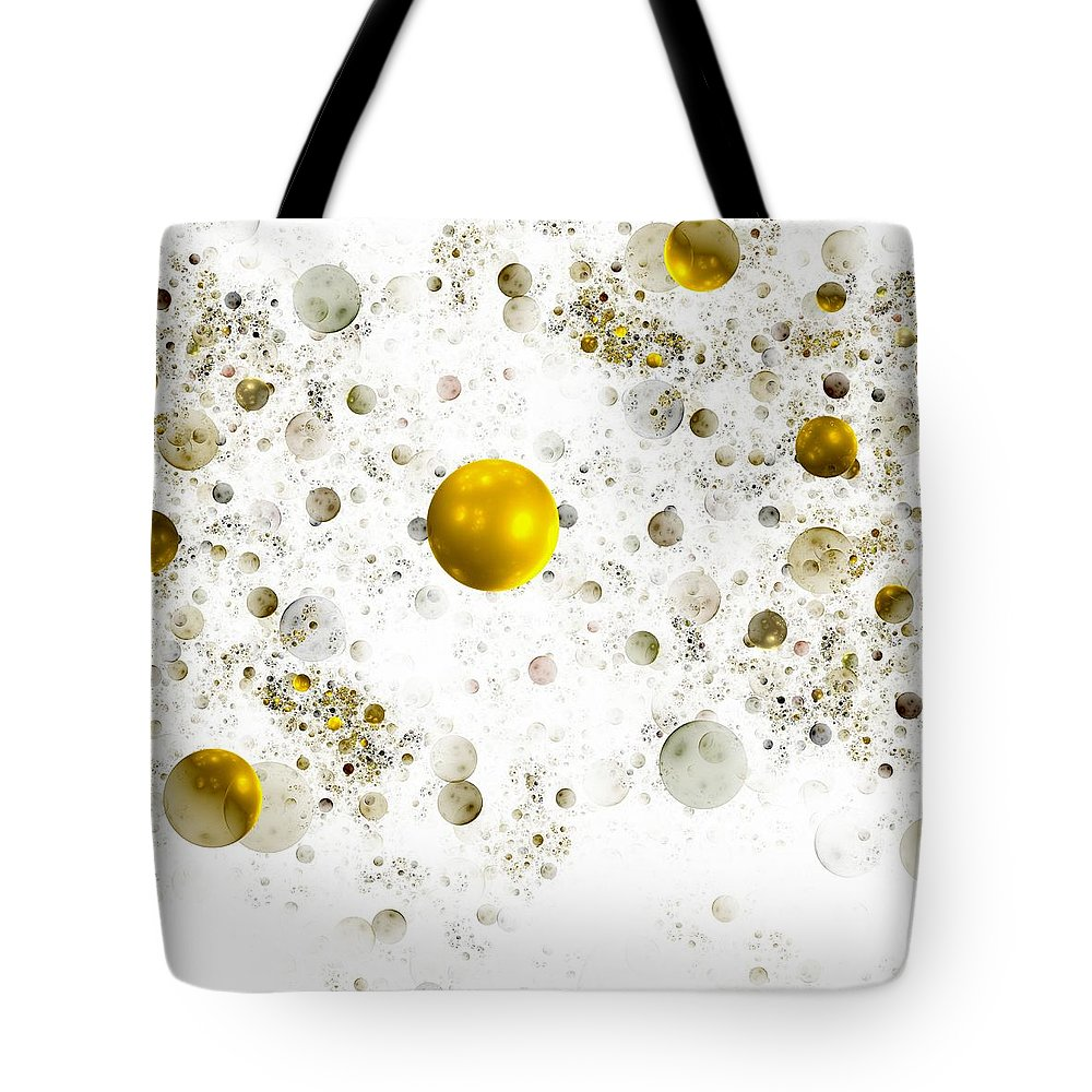 Abstract Tote Bag featuring the digital art Lightness by Steve K