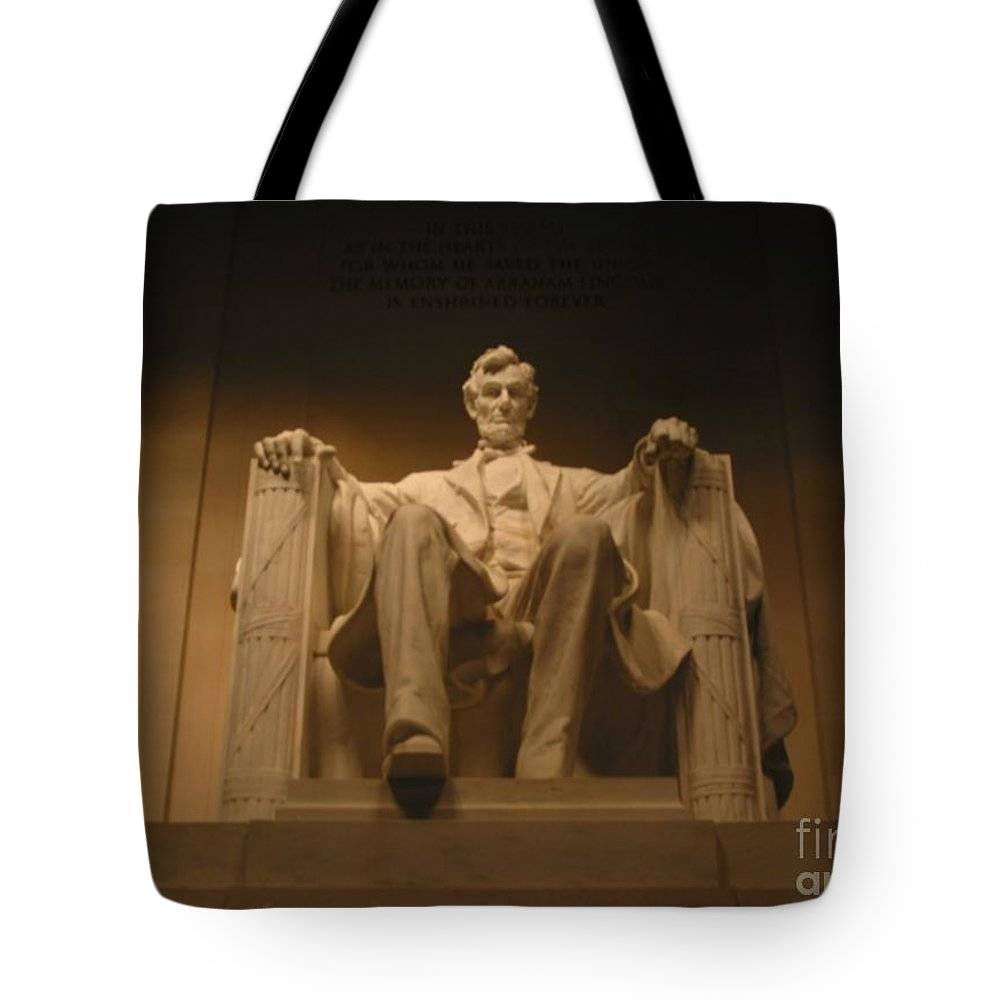 Abraham Lincoln Tote Bag featuring the painting Lincoln Memorial by Brian McDunn
