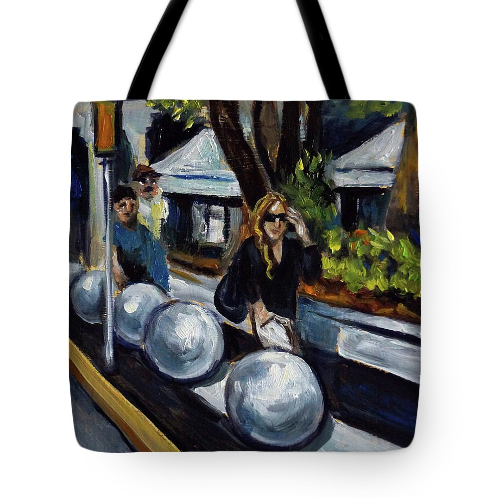 Sobe Tote Bag featuring the painting Lincoln Road by Valerie Vescovi