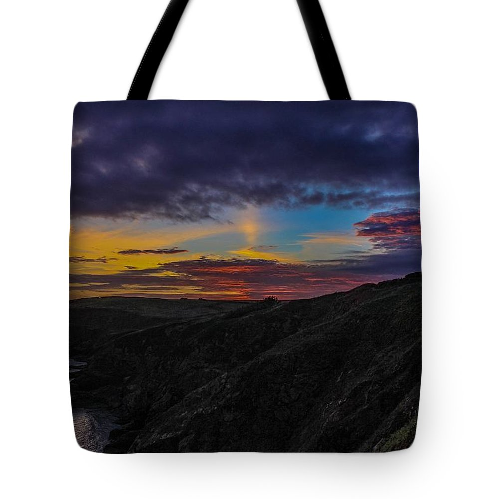 Landscape Tote Bag featuring the photograph Lizard Point At Sunset by Claire Whatley