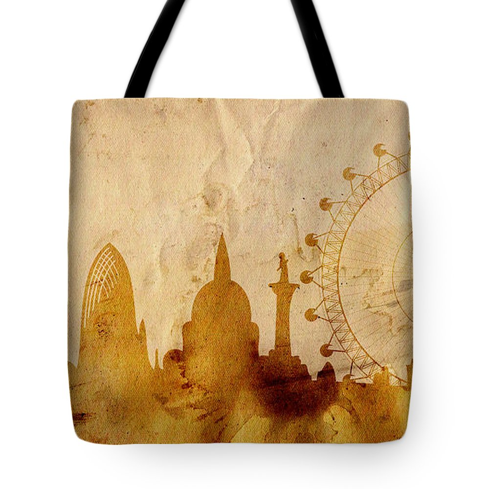 London Tote Bag featuring the mixed media London by Michal Boubin
