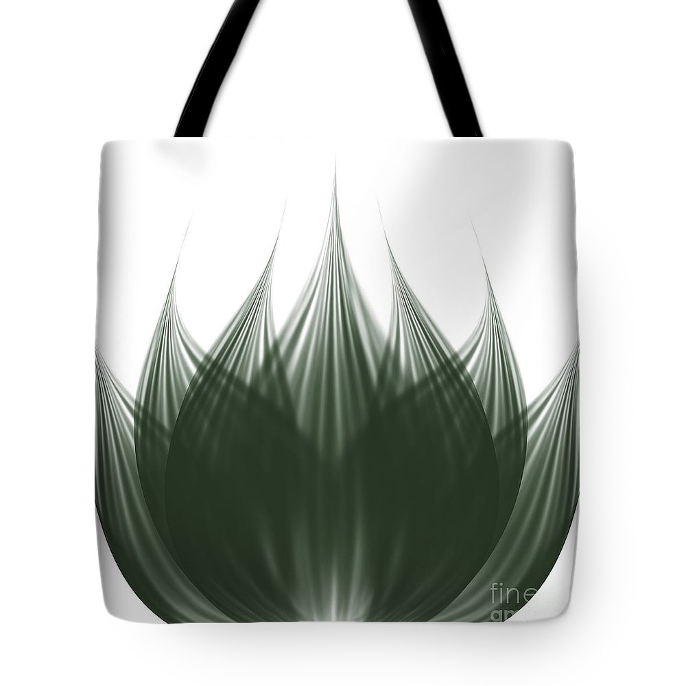 Abstract Tote Bag featuring the digital art Lotus Flower by Atiketta Sangasaeng