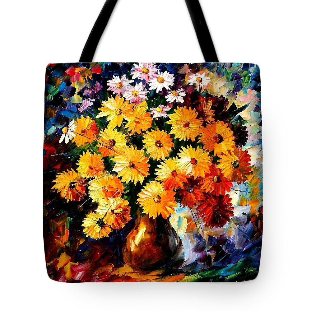 Afremov Tote Bag featuring the painting Love Irradiation by Leonid Afremov