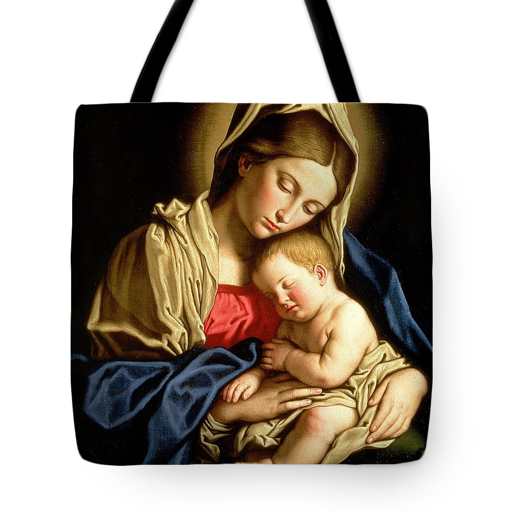 Mary Tote Bag featuring the painting Madonna And Child 1 by Il Sassoferrato